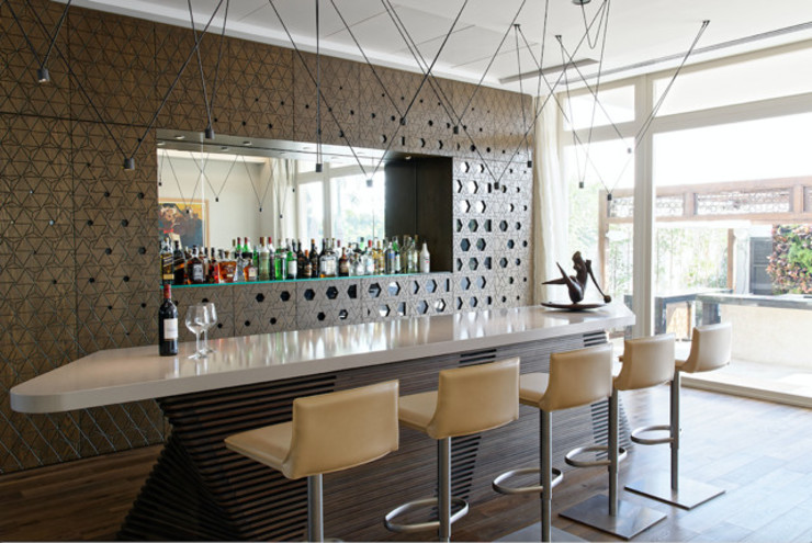 Entertainment bar area Eclectic style dining room by Jam Space Ltd Eclectic