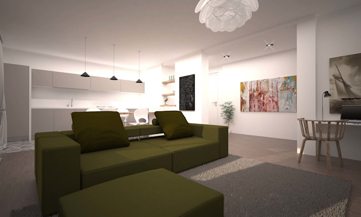LIVING SEVENTY Soggiorno moderno di LAB16 architettura&design Moderno