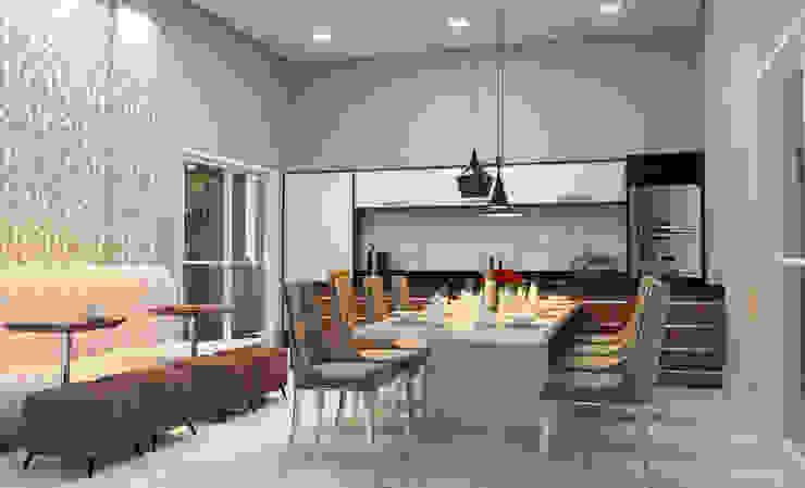 Híbrida Arquitetura, Engenharia e Construção Ruang Ganti Modern