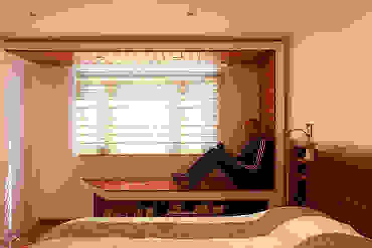 Letrán Valle All Arquitectura Recámaras eclécticas Acabado en madera