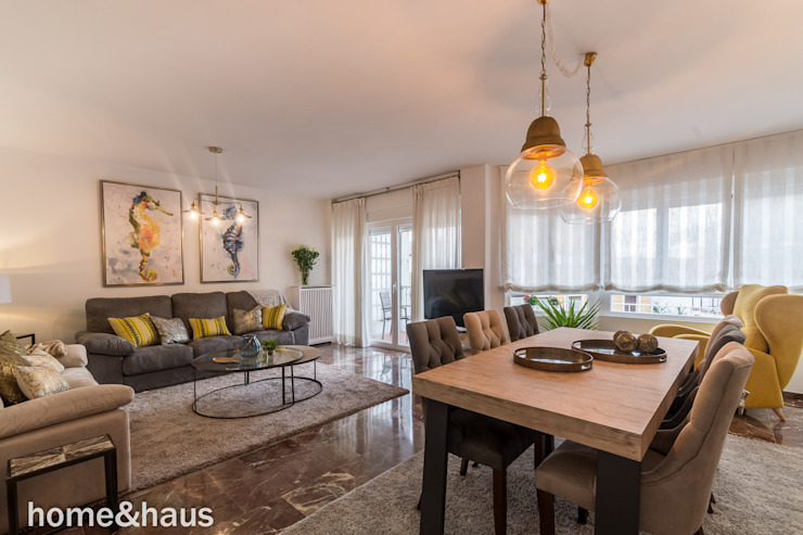 غرفة المعيشة تنفيذ Home & Haus | Home Staging & Fotografía,