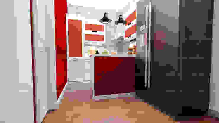 لقطات بسيطة من تصميماتنا الداخلية:  مطبخ تنفيذ EHAF Consulting Engineers,