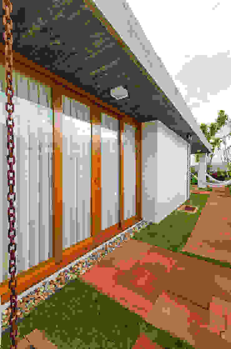 Casas modernas de Diego Alcântara - Studio A108 Arquitetura e Urbanismo Moderno Madera Acabado en madera