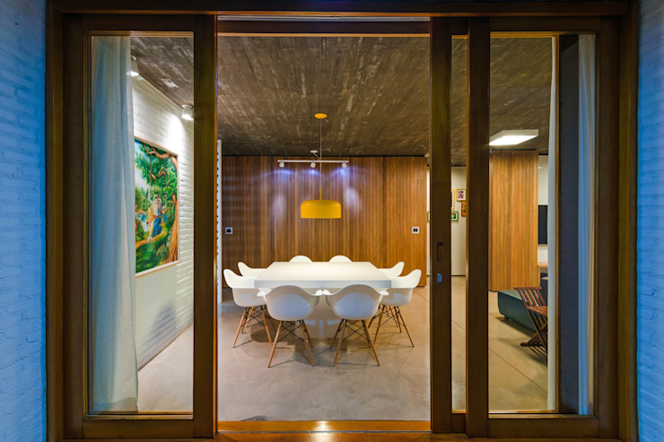 Comedores de estilo moderno de Diego Alcântara - Studio A108 Arquitetura e Urbanismo Moderno Madera Acabado en madera