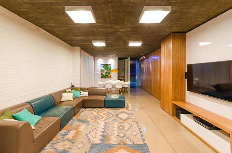 Salas de estilo moderno de Diego Alcântara - Studio A108 Arquitetura e Urbanismo Moderno Concreto