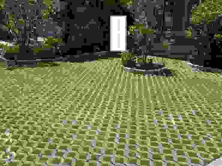 植草磚的運用搭配台北草 根據 霖森園藝 鄉村風