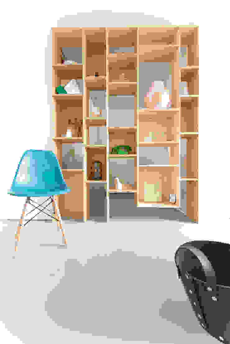 Van garage naar creatieve workshopruimte van Peggy Franssen Interieurontwerp Scandinavisch Multiplex