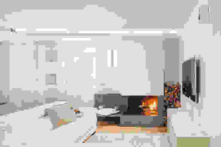Salas de estilo moderno de manuarino architettura design comunicazione Moderno