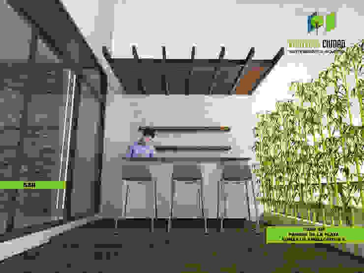 Proyecto Ciudad. Taller de Urbanismo y Arquitectura. Eclectic style garden