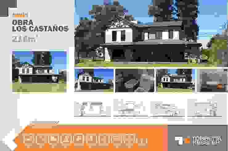 Casa estilo campo Casas rurales de TORRETTA KESSLER Arquitectos Rural Ladrillos