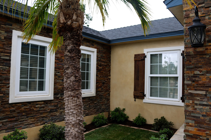 Point Loma Custom House Painting, Refacing, and Staining on Chatsworth Tropical style houses by Procoat Painting Tropical