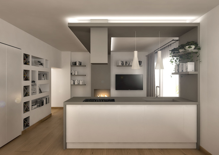 Moderne keukens van Architetto Luigia Pace Modern Hout Hout