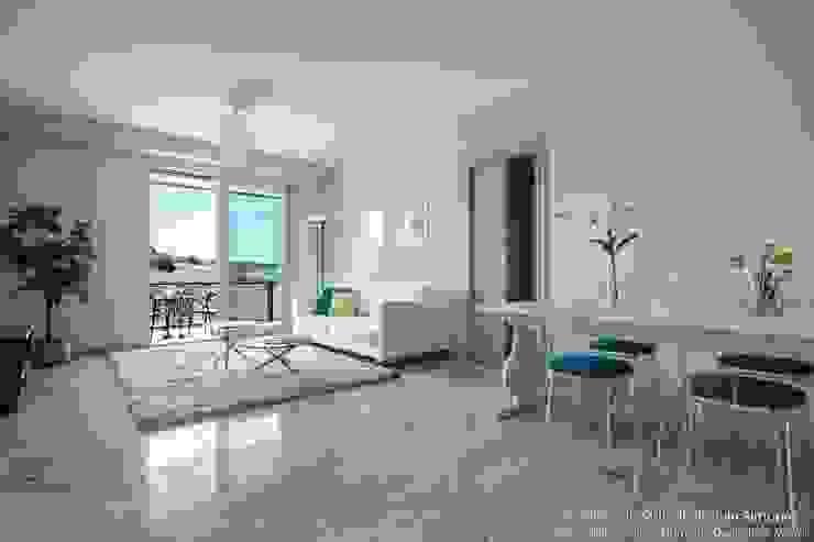 Home Staging su appartamento pilota di Palazzina in fase di realizzo Soggiorno moderno di Vivere lo Stile Moderno