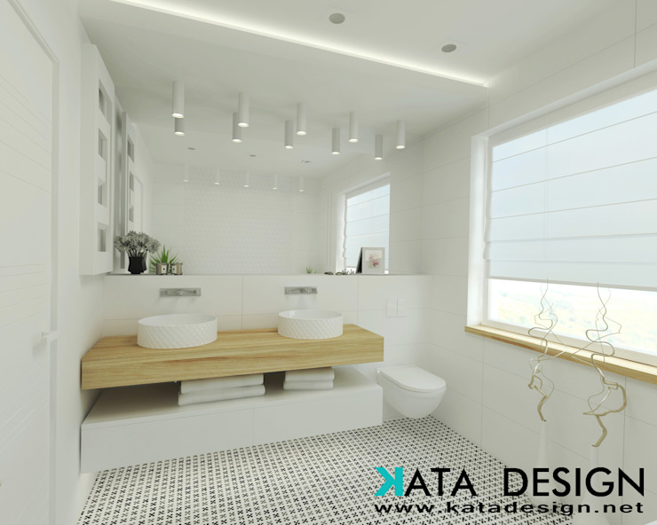 Scandinavian style bathroom by Kata Design Scandinavian