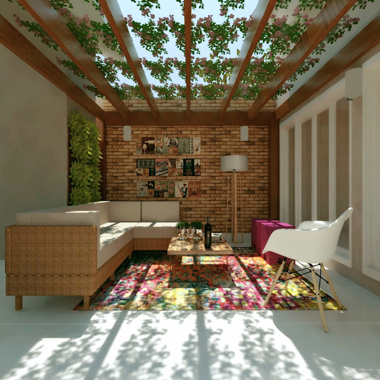 Garage/shed by Cíntia Schirmer | arquiteta e urbanista, Rustic Wood Wood effect