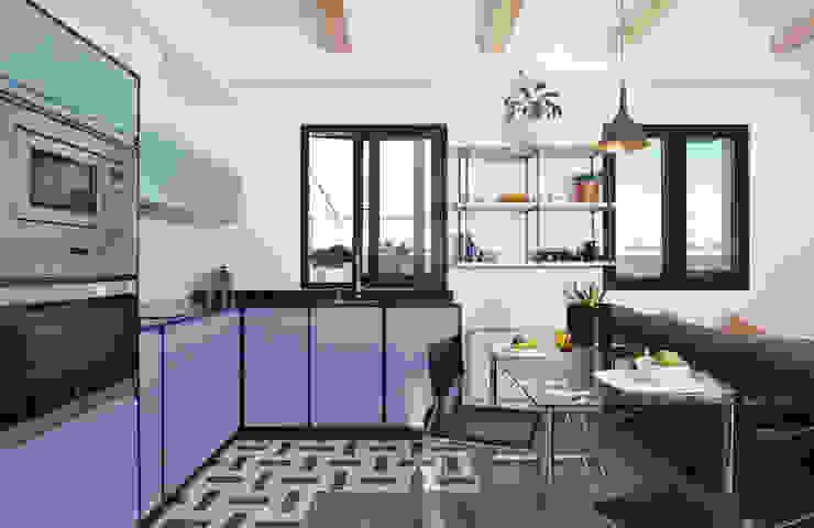 Ondo Interiorismo Modern style kitchen Blue
