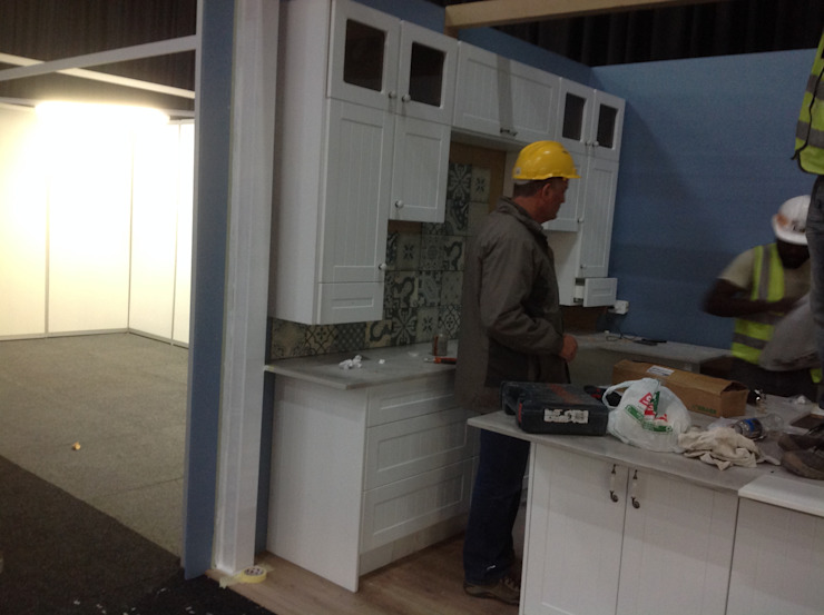 Decorex stand setup: classic  by kitchen frontiers, Classic