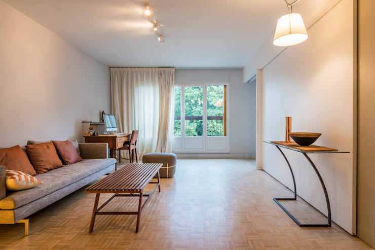 Appartement Clairaut 55m2 de 2 pièces Salon moderne par Dominique Paolini Design Moderne