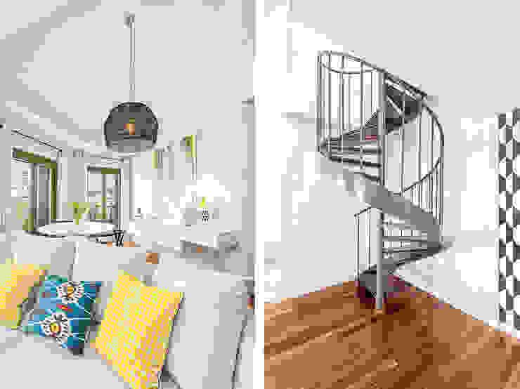 Pasillos, vestíbulos y escaleras de estilo escandinavo de Espacios y Luz Fotografía Escandinavo Derivados de madera Transparente