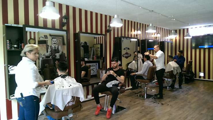 primera barbería terminada y en uso de Camargo estudio creativo