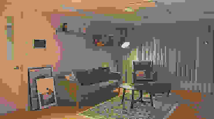 Salas modernas de 위드디자인 Moderno