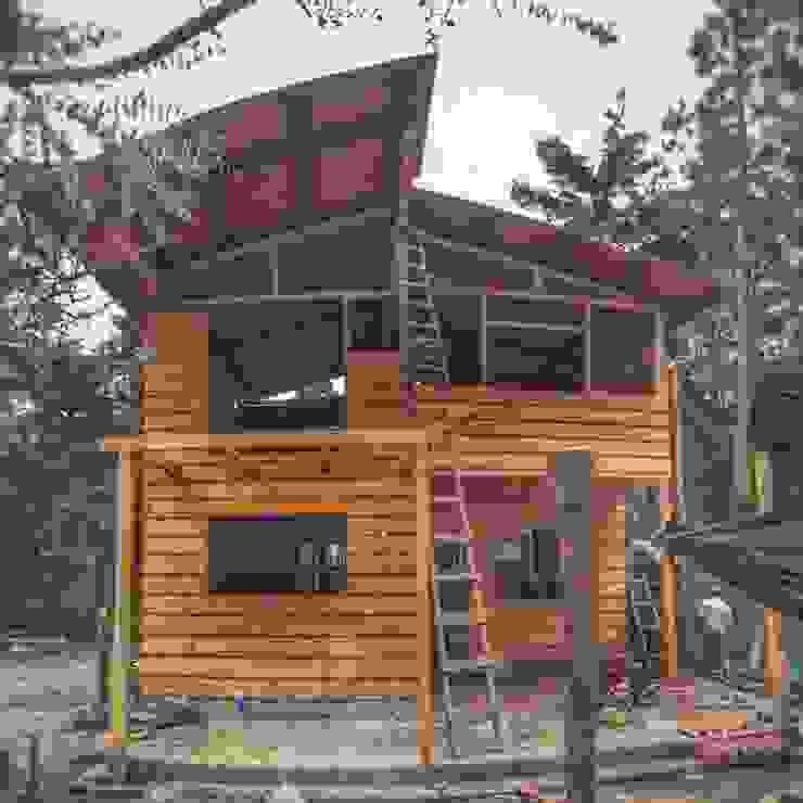 Construccion Casas de estilo rústico de gechamul Rústico Madera Acabado en madera