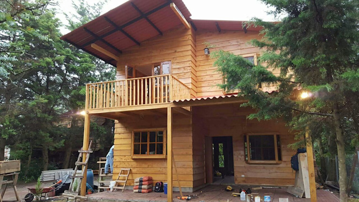 Rustic style house by gechamul Rustic Wood Wood effect