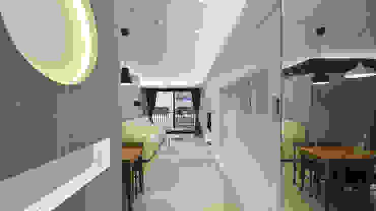 高雅簡約佳品味 現代風玄關、走廊與階梯 根據 瓦悅設計有限公司 現代風