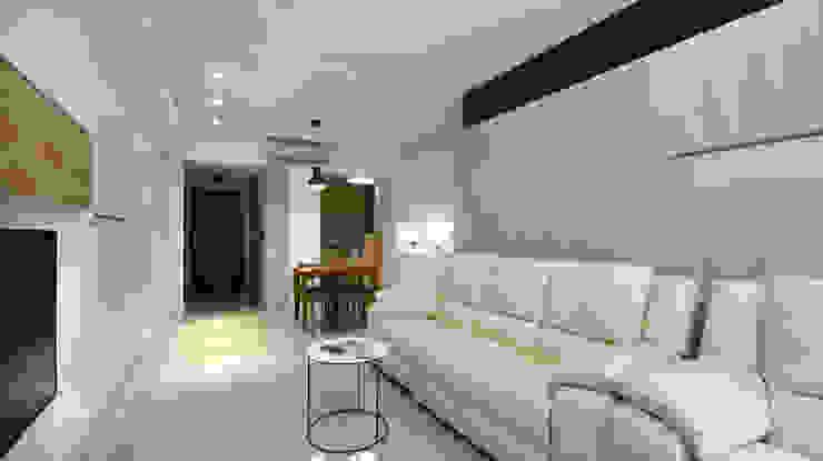 高雅簡約佳品味 现代客厅設計點子、靈感 & 圖片 根據 瓦悅設計有限公司 現代風