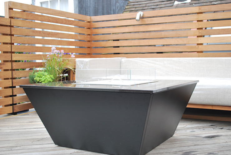 Aztec Gas Fire Table - Rooftop Garden (London): modern  by Rivelin, Modern