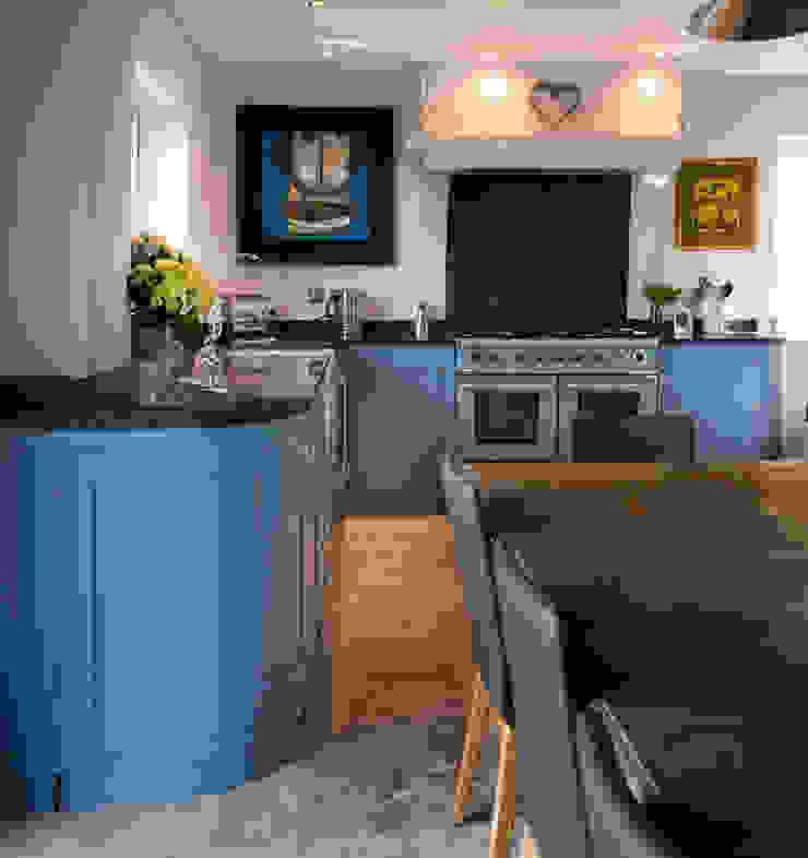 French farm house blue Auspicious Furniture Kitchen Wood Blue