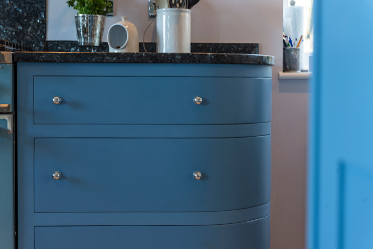 French farm house blue Auspicious Furniture Country style kitchen Wood Blue