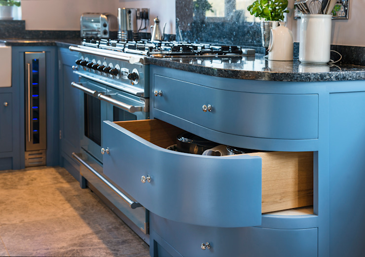 French farm house blue Auspicious Furniture Kitchen Wood Blue