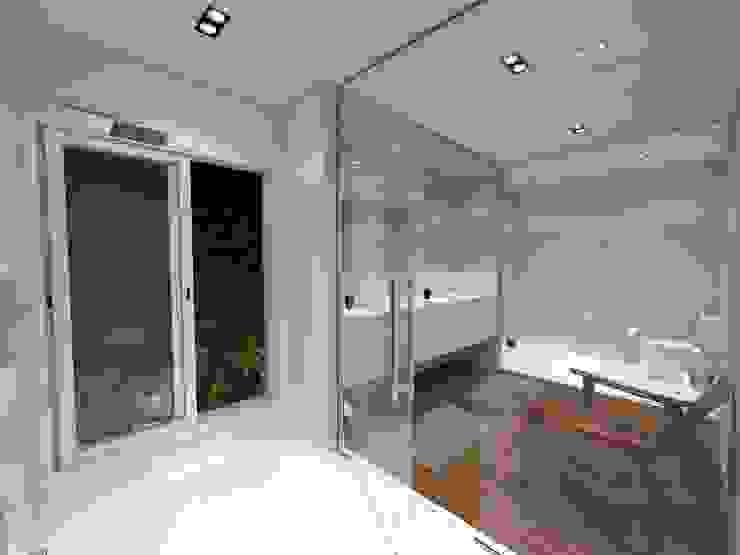 Vista 01 - Área de Banho Jeffer Henrich Banheiros minimalistas Cerâmica Branco