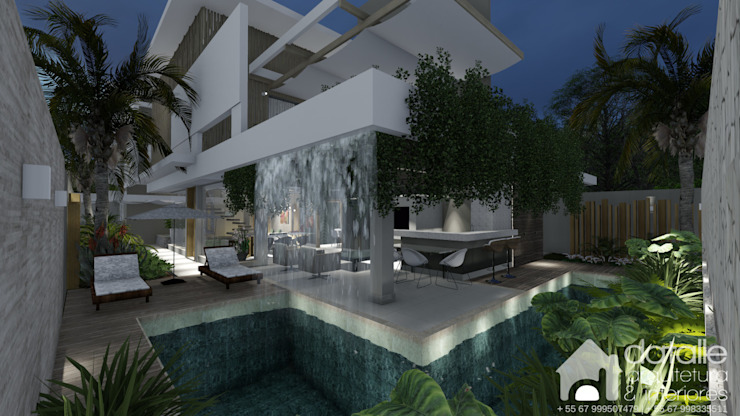 Modern pool by Datalle - Arquitetura & Interiores Modern