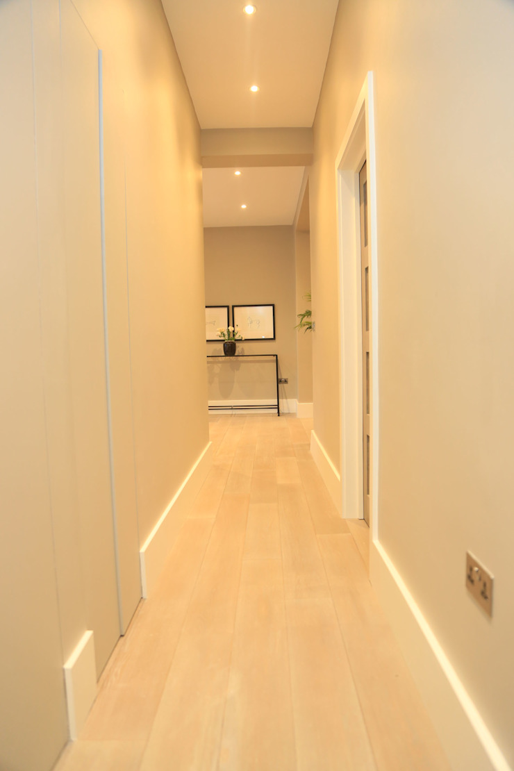 Full house renovation in Marylebone, London W1U Modern Corridor, Hallway and Staircase by APT Renovation Ltd Modern