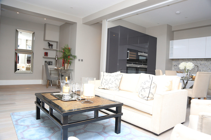 Full house renovation in Marylebone, London W1U Modern Living Room by APT Renovation Ltd Modern
