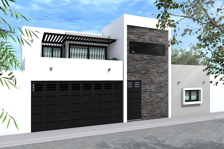 FACHA DIA Casas modernas de homify Moderno Piedra