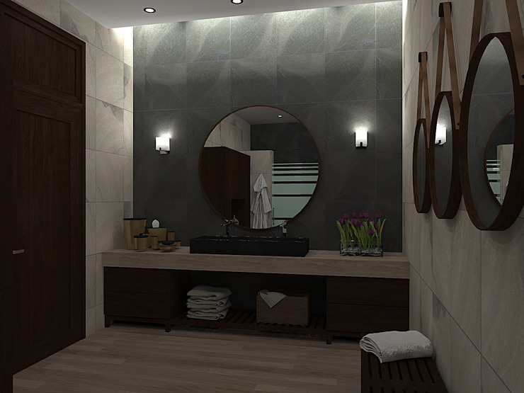 Modern style bathrooms by homify Modern Wood Wood effect