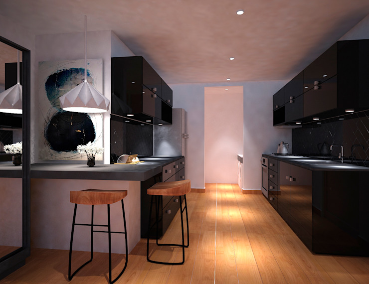 Modern kitchen by Fiallo Design Studio Modern
