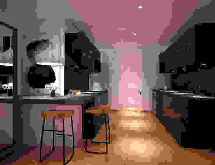 Cocina: Cocinas de estilo  por Fiallo Design Studio,
