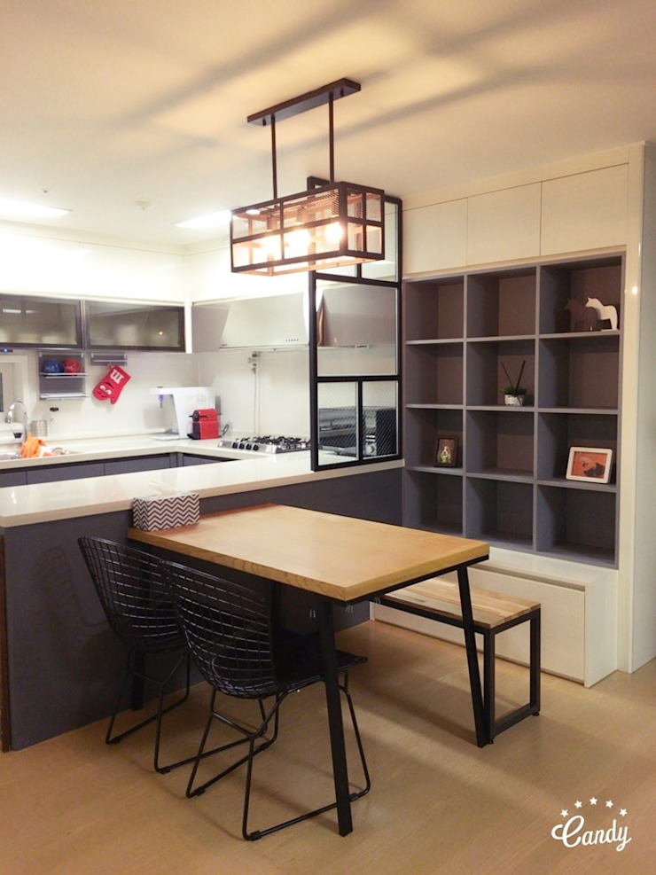 [홈라떼] 하남 미사 34평 모던한 새아파트 홈스타일링 모던스타일 거실 by homelatte 모던