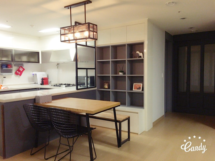 [홈라떼] 하남 미사 34평 모던한 새아파트 홈스타일링 모던스타일 주방 by homelatte 모던