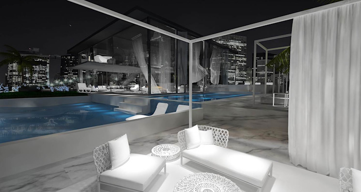 Balcones y terrazas de estilo minimalista de Edda İstanbul Proje Mimarlık Minimalista