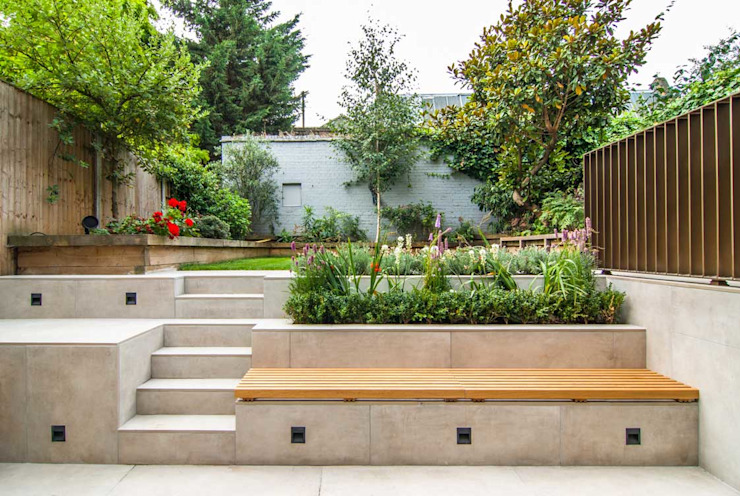 DE BEAUVOIR SQUARE:  Garden by Bradley Van Der Straeten Architects,