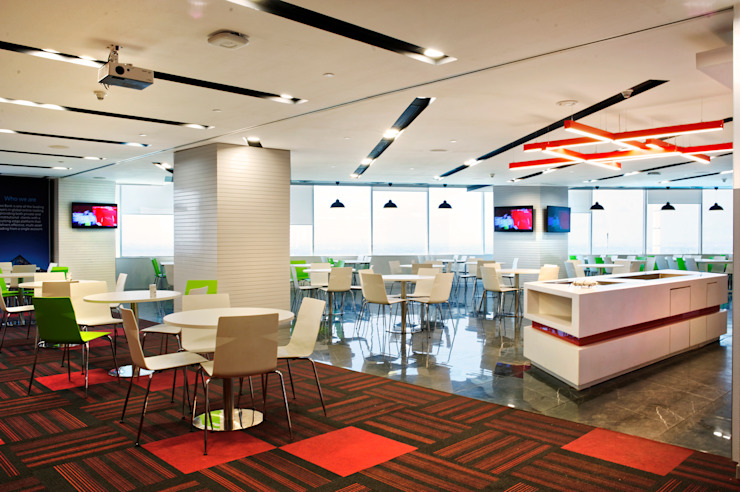 Saxo Bank Commercial Space Project by Praxis Design & Building Solutions Pvt Ltd Modern Wood Wood effect