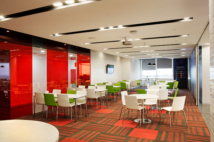 Saxo Bank Commercial Space Project by Praxis Design & Building Solutions Pvt Ltd Modern Plastic