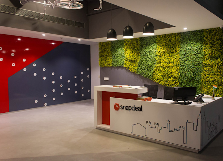 Snapdeal Commercial Space Project by Praxis Design & Building Solutions Pvt Ltd Modern Wood Wood effect