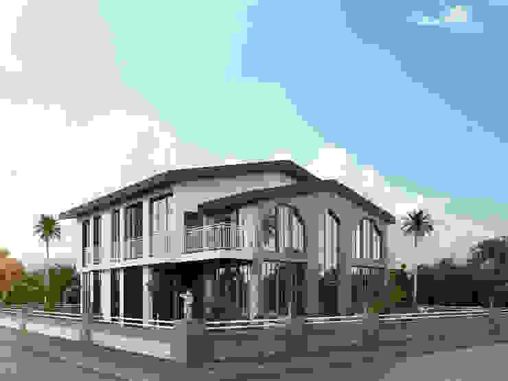 ACS Mimarlık – Sahilevleri Villa Projesi:  tarz Evler, Modern Taş