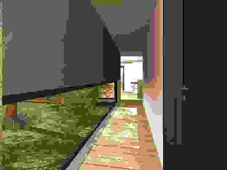 Modern Corridor, Hallway and Staircase by Estudio Pauloni Arquitectura Modern
